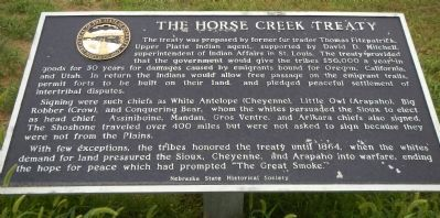 The Horse Creek Treaty Marker image. Click for full size.