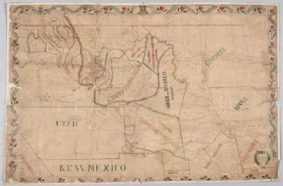 Father De Smet's map of the territories assigned to plains Indian tribes, 1851. image. Click for full size.