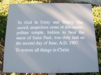 Cathedral of Saint Paul Cornerstone Marker image. Click for full size.