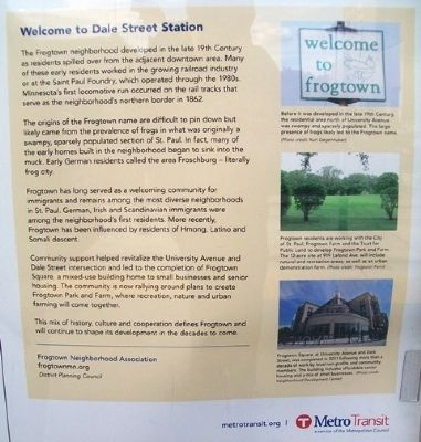 Welcome to Dale Street Station Historical Marker