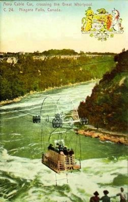<i>Cable Car Crossing the Great Whirlpool, Niagara Falls, Canada</i> image. Click for full size.