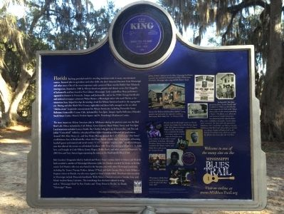 The Blues Trail: Mississippi to Florida Marker (Rear) image. Click for full size.