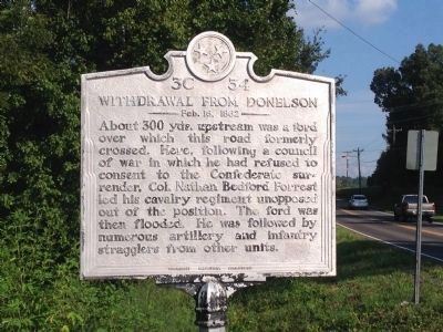 Withdrawal From Donelson Marker image. Click for full size.