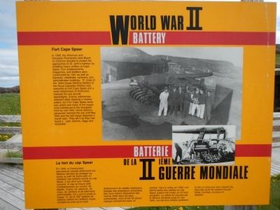 World War II Battery Marker image. Click for full size.