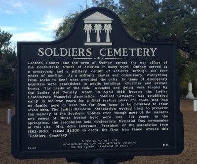 Soldiers Cemetery Marker image. Click for full size.