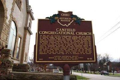 Canfield Congregational Church Marker image. Click for full size.