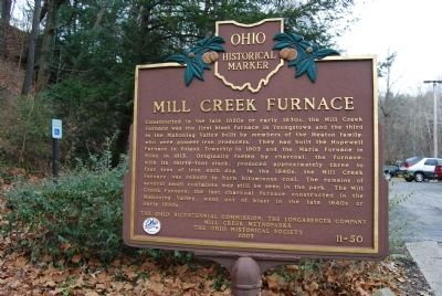 Mill Creek Furnace Marker image. Click for full size.