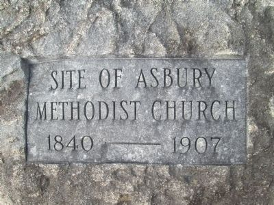 Asbury Methodist Church Marker image. Click for full size.