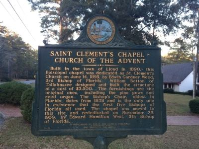 Saint Clement's Chapel ~ Church of The Advent Marker image. Click for full size.