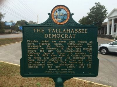 The <i>Tallahassee Democrat</i> Marker (Side 1) image. Click for full size.