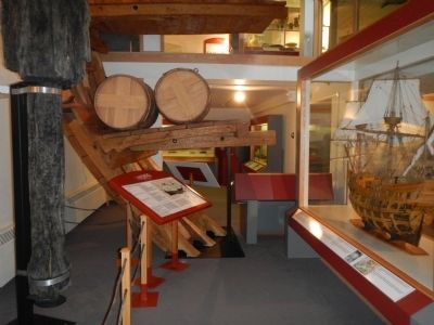 Visitors Centre exhibits image. Click for full size.