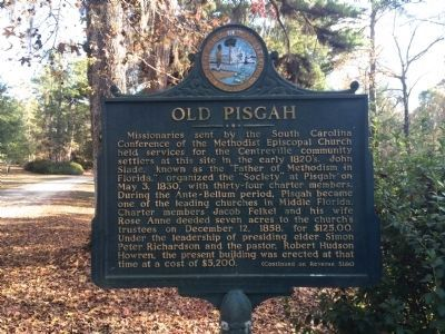 Side 1: Old Pisgah Marker image. Click for full size.