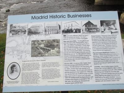Madrid Historic Businesses Marker image. Click for full size.