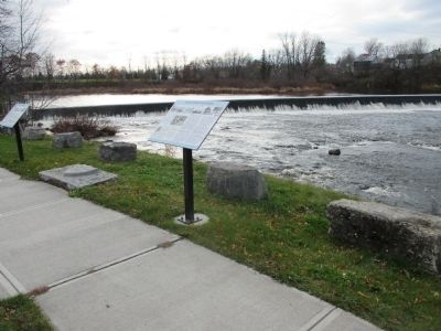 Madrid Markers and Grass River Dam image. Click for full size.