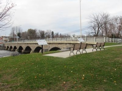 Madrid Markers and the Stone Bridge (NY 345) image. Click for full size.
