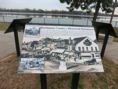Burlington County's Historical Downtown Marker image. Click for full size.