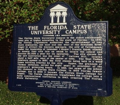 Florida State University Campus Marker image. Click for full size.
