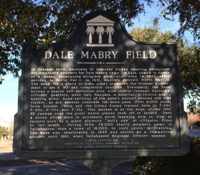 Dale Mabry Field Marker image. Click for full size.