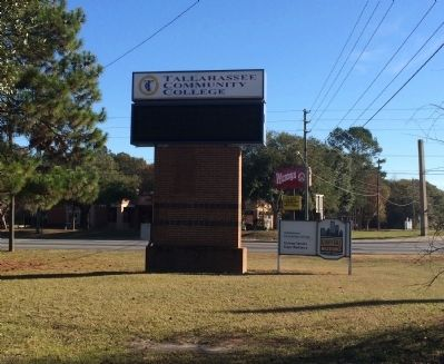 Tallahassee Community College sign nearby. image. Click for full size.