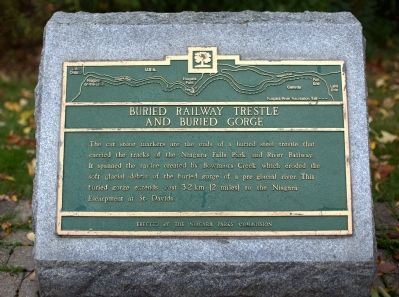 Buried Railway Trestle and Buried Gorge Marker image. Click for full size.