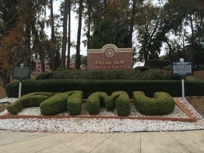Florida A&M University Entrance & similar marker (left) image. Click for full size.