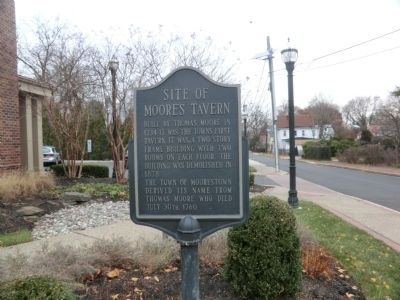 Site of Moore's Tavern Marker image. Click for full size.