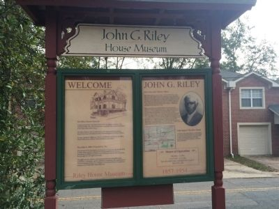 John G. Riley House Museum Information image. Click for full size.