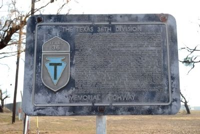 The Texas 36th Division Memorial Highway Marker image. Click for full size.