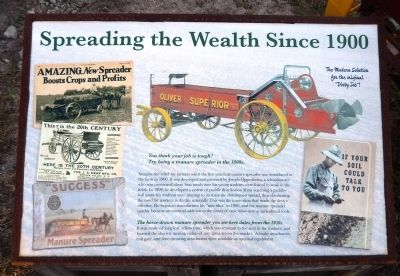 Spreading the Wealth Since 1900 Marker image. Click for full size.