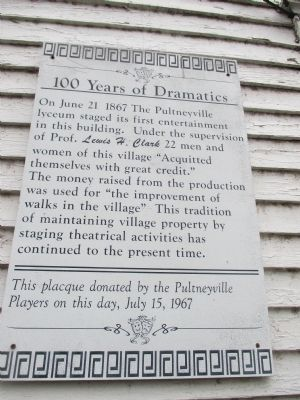 100 Years of Dramatics Marker image. Click for full size.