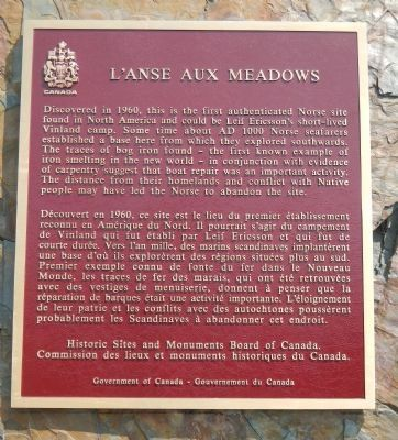 L'Anse aux Meadows Marker image. Click for full size.