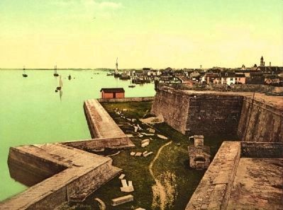 <i> Fort Marion, St. Augustine and harbor</i> image. Click for full size.