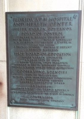 Building dedication plaque. image. Click for full size.