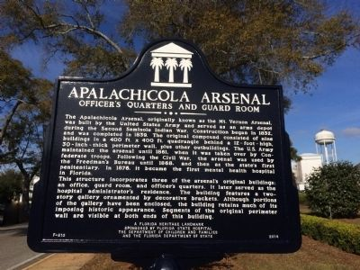 Apalachicola Arsenal - Officers Quarters Marker image. Click for full size.