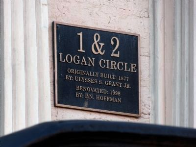 1 & 2 Logan Circle Plaque image. Click for full size.