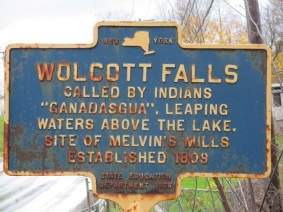 Wolcott Falls Marker image. Click for full size.