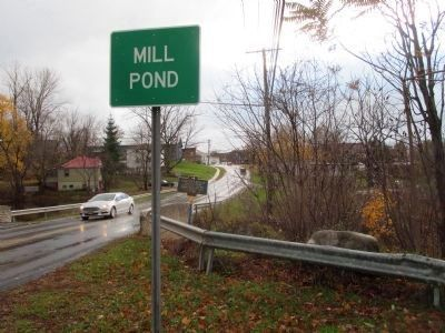 Mill Pond Sign and Marker image. Click for full size.