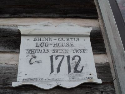 Second Shinn-Curtis Log House Marker image. Click for full size.