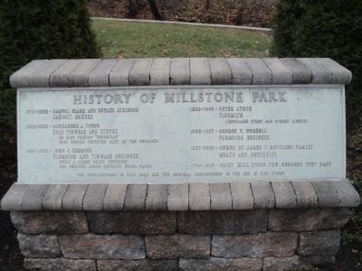 History Millstone Park Marker image. Click for full size.