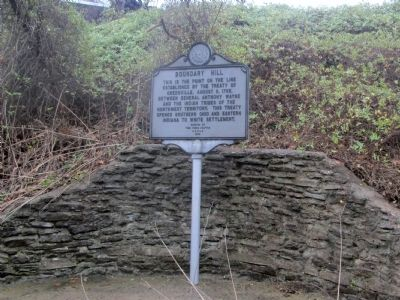 Boundary Hill Marker image. Click for full size.