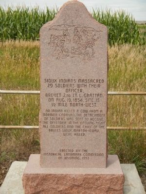 Sioux Indians Massacred Marker image. Click for full size.