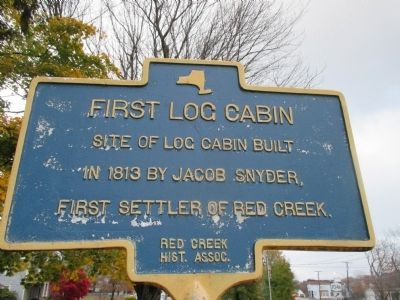 First Log Cabin Marker image. Click for full size.