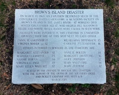 Brown's Island Disaster Monument image. Click for full size.