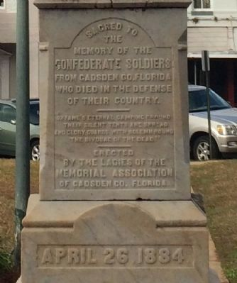 Gadsden County Civil War Monument image. Click for full size.