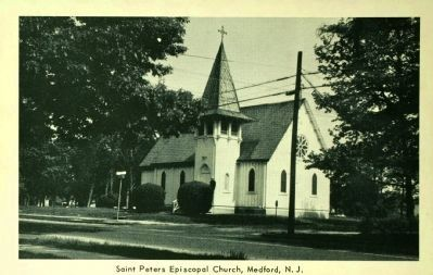 <i> Saint Peter&#39;s Episcopal Church, Medford, N.J.</i> image. Click for full size.