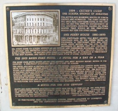 The Perry House - Basin Park Hotel Marker image. Click for full size.