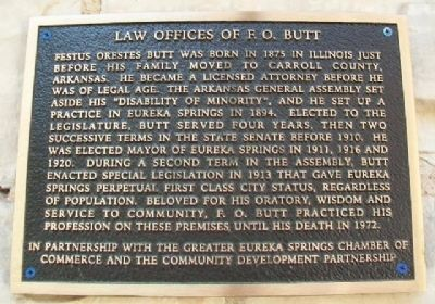 Law Offices of F. O. Butt Marker image. Click for full size.