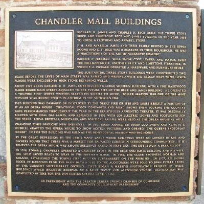 Chandler Mall Buildings Marker image. Click for full size.