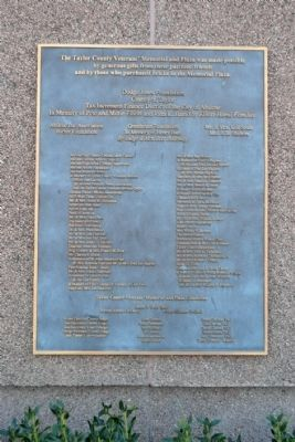 Donors Plaque image. Click for full size.