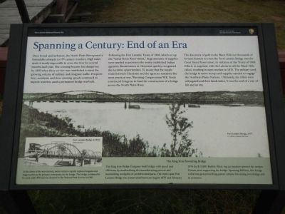 Spanning a Century: End of an Era Marker image. Click for full size.